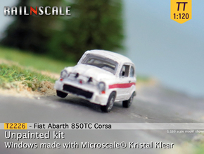 Fiat Abarth 850 TC Corsa (TT 1:120) in Frosted Ultra Detail