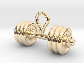 Small Dumbbell Earring in 14k Gold Plated Brass