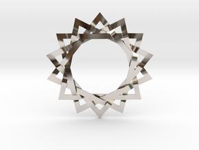 14 Point Woven Shaman Star in Rhodium Plated Brass