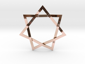 7 Point Woven Star in 14k Rose Gold