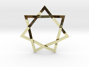 7 Point Woven Star in 18k Gold Plated Brass