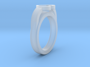 16.50 mm Heart Ring in Smooth Fine Detail Plastic