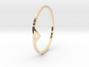 mk in 14k Gold Plated Brass
