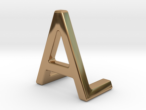 AL LA - Two way letter pendant in Polished Brass