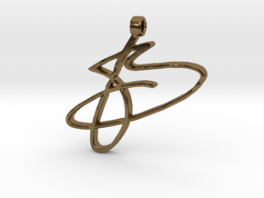 B Borys Handschrift in Polished Bronze