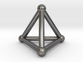 0277 Tetrahedron V&E (S&B) (a=10mm) in Polished Nickel Steel