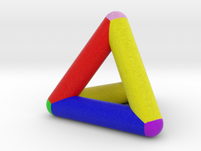 0278 Tetrahedron V&E (full color) in Full Color Sandstone