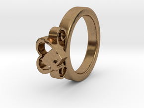 Horse Heart Ring Ø16.50 Mm in Natural Brass