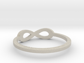 infinity ring Ring Size 7 in Natural Sandstone