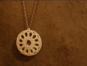 Islamic Inspired 3D Pendant in White Processed Versatile Plastic