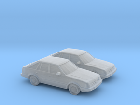 1/148 2X 1985-87 Ford Escort in Smooth Fine Detail Plastic