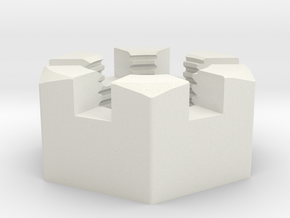 Large Immortan Joe Codpiece Castle Nut in White Natural Versatile Plastic