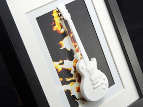 Gibson Les Paul guitar for photo frame in White Processed Versatile Plastic