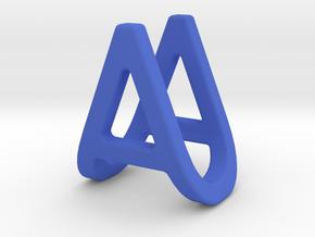 AU UA - Two way letter pendant in Blue Processed Versatile Plastic