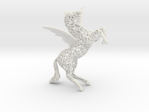 Pegasus Voronoi 80mm in White Natural Versatile Plastic