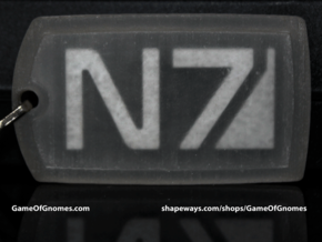 N7 Dog tag (Trapped Wax)  in Smooth Fine Detail Plastic
