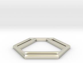 Benzene in 14k White Gold