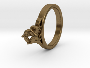 Ø20.4 Mm Diamond Ring Ø4.8 Mm Fit with bow in Natural Bronze