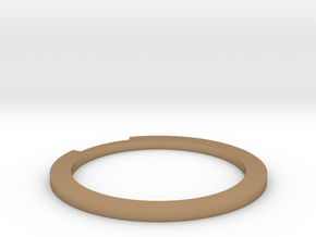 Sliced Ring 16.7mm in Polished Brass