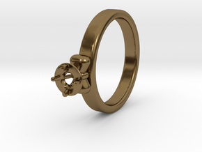 Ø20.4 Mm Bow Diamond Ring Ø4.8 Mm Fit in Polished Bronze