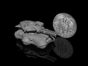 6mm Alien Roller Tank in Smooth Fine Detail Plastic