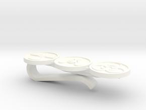 Nuke Chem Bio Tie bar / tie clip - PLASTIC in White Processed Versatile Plastic