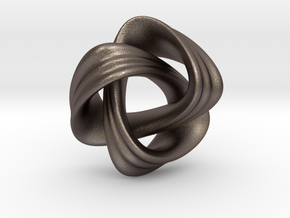Nudo Pendant in Polished Bronzed Silver Steel