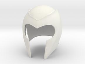 Magneto helmet from X-Men 1 movie in White Natural Versatile Plastic