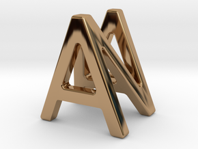 AN NA - Two way letter pendant in Polished Brass