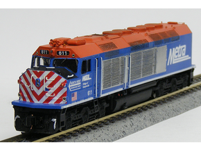 N Scale EMD F40C (Metra) in Smooth Fine Detail Plastic