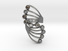 Butterfly Wing Ring Size 5 in Polished Silver