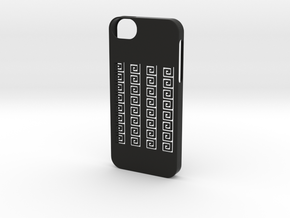 iphone 5 /5s case greek meander in Black Strong & Flexible
