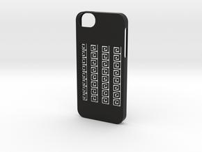 iphone 5 /5s case greek meander in Black Strong & Flexible