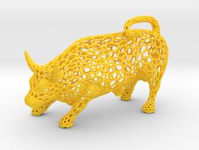 Pierced Torus small in Yellow Processed Versatile Plastic