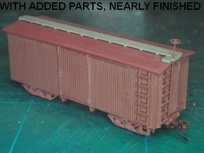 HOn30 22ft Boxcar (FUD) in Smooth Fine Detail Plastic