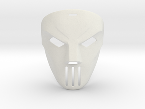 Casey Jones TMNT Movie Mask (1990) in White Natural Versatile Plastic