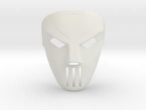 Casey Jones TMNT Movie Mask (1990) in White Strong & Flexible