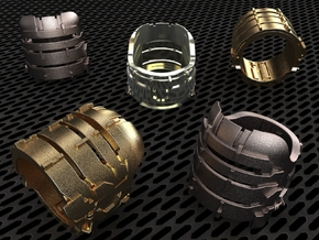 Dead Space Engineering Suit lvl3 ring in Polished Bronze Steel