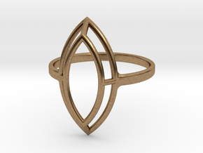 Marquise Simple Wire Ring - US Size 09 in Natural Brass