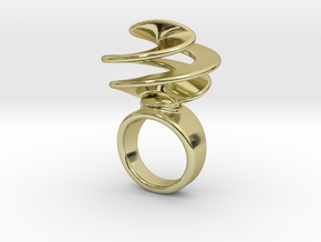 Twisted Ring 21 - Italian Size 21 in 18k Gold Plated Brass