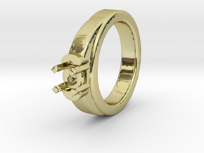 Ø16.20 Mm Diamond Ring Ø7 Mm Fit in 18k Gold