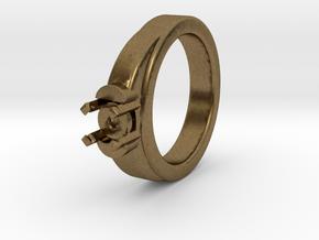 Ø16.20 Mm Diamond Ring Ø7 Mm Fit in Natural Bronze