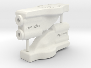 B5M low rider wing mount in White Natural Versatile Plastic