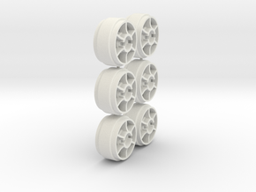 Mini-Z Wheels Ultralight for  Slot-it pt29 in White Strong & Flexible