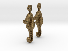 SeaHorse Earring in Polished Bronze
