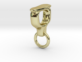 Ossicle Pendant - Stapes (right sided) in 18k Gold Plated Brass