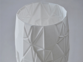 Origami Vase in White Natural Versatile Plastic