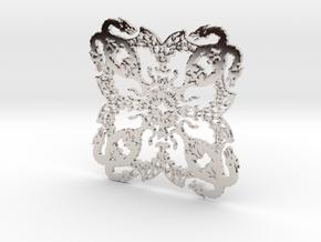 Dragonflake 2 - 2mm depth in Platinum