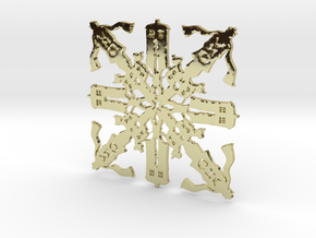 Doctor Who: Fourth Doctor Snowflake in 18k Gold Plated Brass