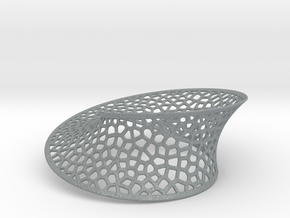 Mobius strip Voronoi (5½ in) in Polished Metallic Plastic